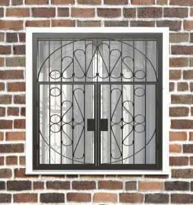 Фото 11 - Распашная решетка на окно РР-0029.