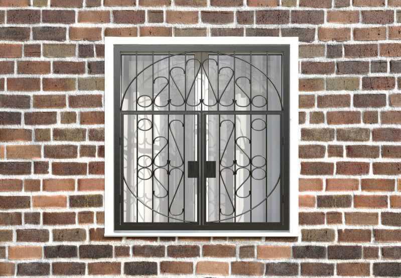 Фото 1 - Распашная решетка на окно РР-0029.