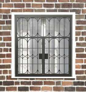Фото 17 - Распашная решетка на окно РР-0028.