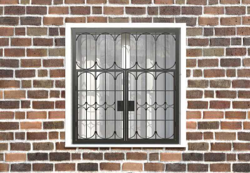 Фото 1 - Распашная решетка на окно РР-0028.