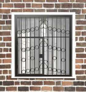 Фото 9 - Распашная решетка на окно РР-0027.
