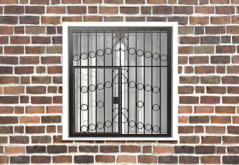 Фото 1 - Распашная решетка на окно РР-0027.