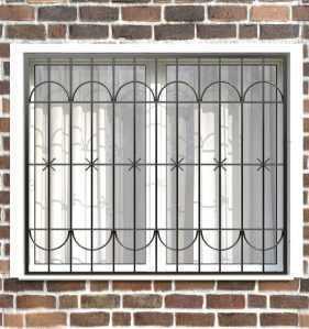 Фото 24 - Сварная решетка на окно РС0011.