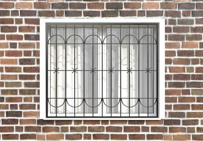 Фото 1 - Сварная решетка на окно РС0011.