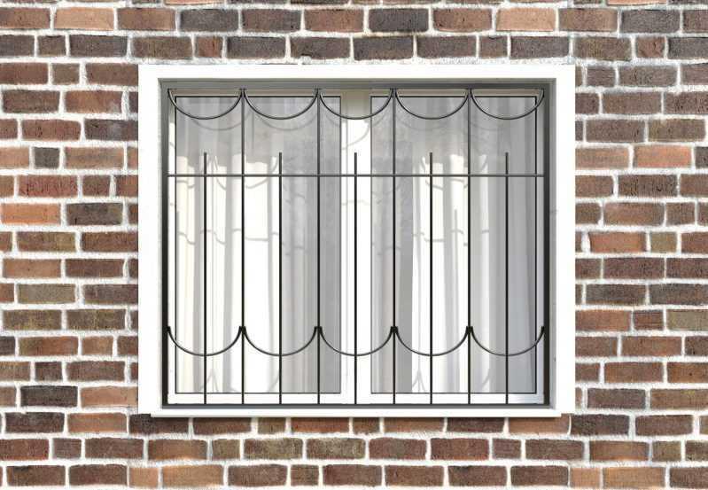 Фото 1 - Сварная решетка на окно РС0020.