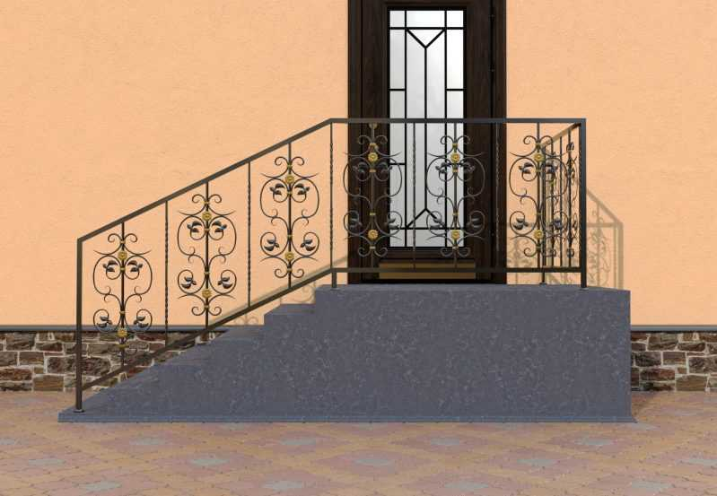 Фото 1 - Перила для лестниц П-0012.