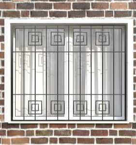 Фото 18 - Сварная решетка на окно РС0034.
