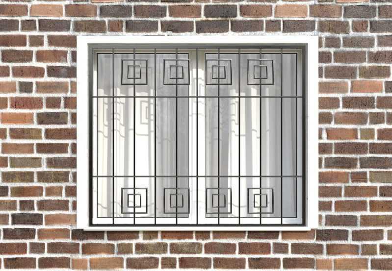 Фото 1 - Сварная решетка на окно РС0034.