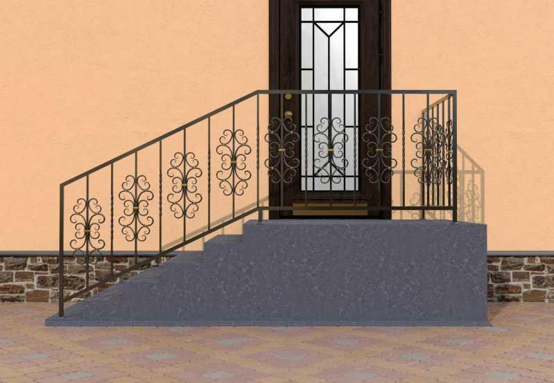 Фото 1 - Перила для лестниц П-0011.