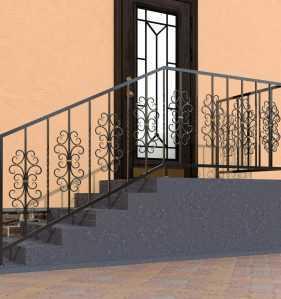 Фото 22 - Перила для лестниц П-0011.