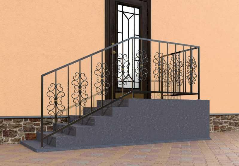 Фото 2 - Перила для лестниц П-0011.