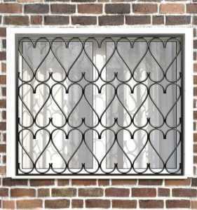Фото 6 - Сварная решетка на окно РС0023.