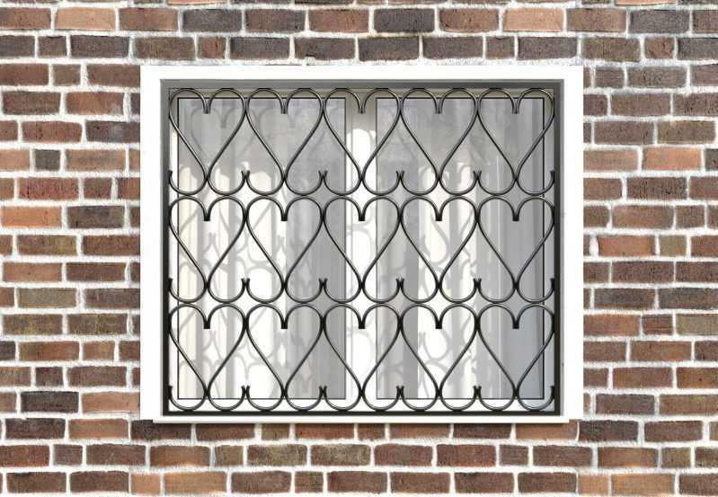 Фото 1 - Сварная решетка на окно РС0023.