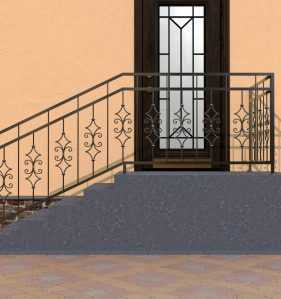 Фото 13 - Перила для лестниц П-007.