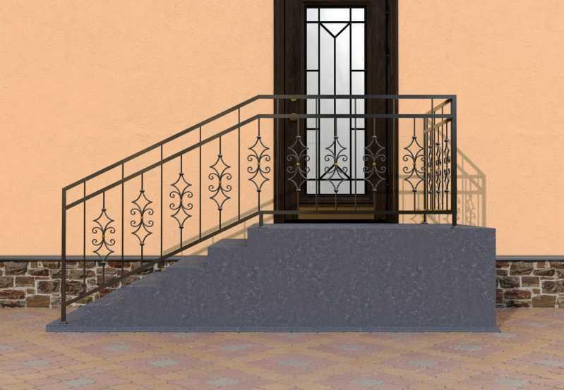 Фото 1 - Перила для лестниц П-007.