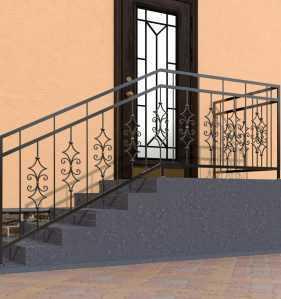 Фото 14 - Перила для лестниц П-007.