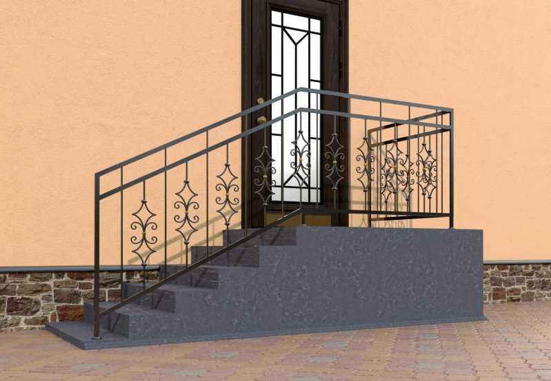 Фото 2 - Перила для лестниц П-007.
