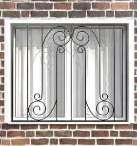 Фото 2 - Сварная решетка на окно РС0024.