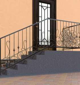 Фото 16 - Перила для лестниц П-008.