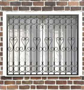 Фото 2 - Сварная решетка на окно РС0030.