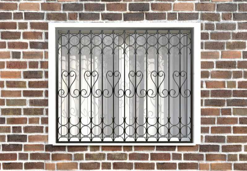 Фото 1 - Сварная решетка на окно РС0030.