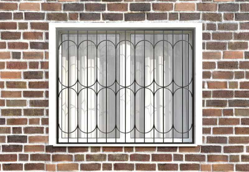 Фото 1 - Сварная решетка на окно РС0029.