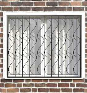 Фото 6 - Сварная решетка на окно РС0008.