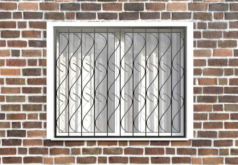 Фото 1 - Сварная решетка на окно РС0008.