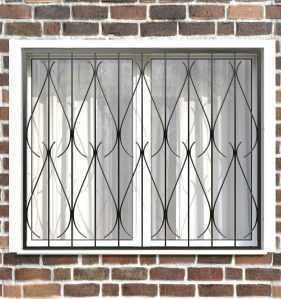 Фото 27 - Сварная решетка на окно РС0014.