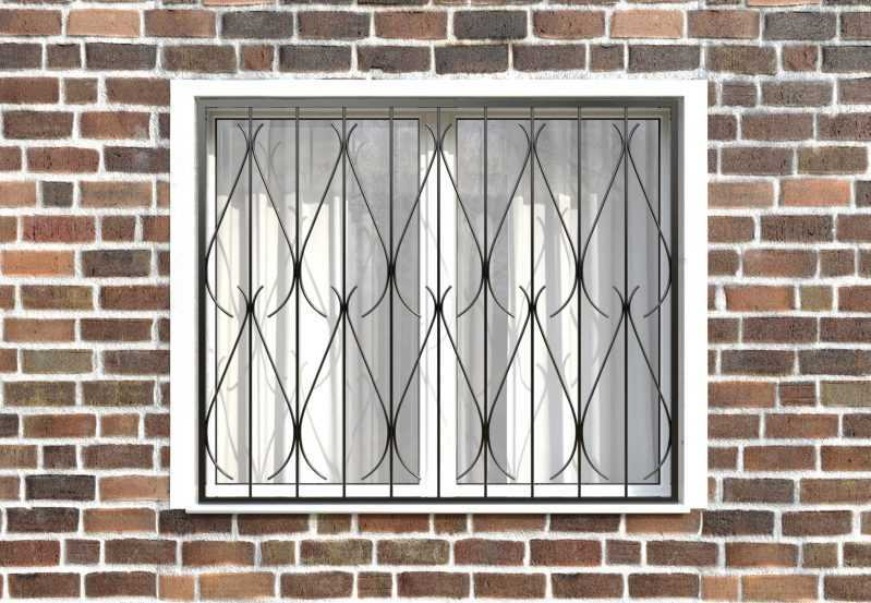 Фото 1 - Сварная решетка на окно РС0014.