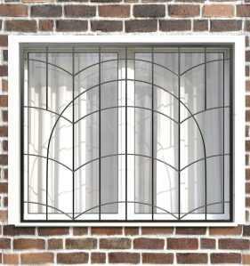 Фото 4 - Сварная решетка на окно РС0035.