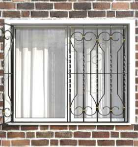 Фото 18 - Распашная решетка на окно РР-0040.
