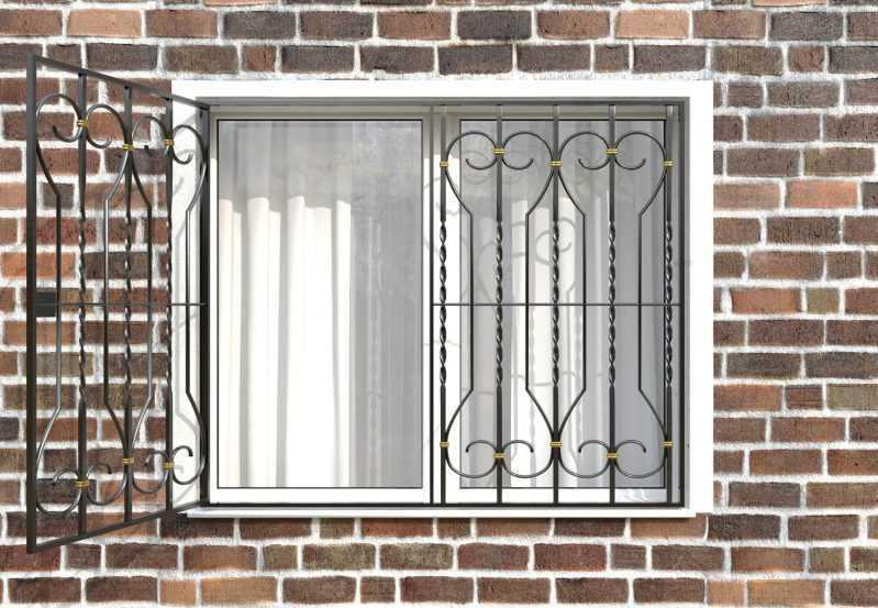 Фото 2 - Распашная решетка на окно РР-0040.