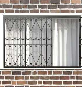 Фото 16 - Распашная решетка на окно РР-0026.