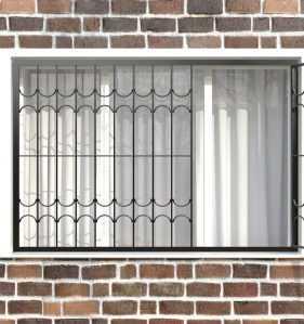 Фото 24 - Распашная решетка на окно РР-0025.