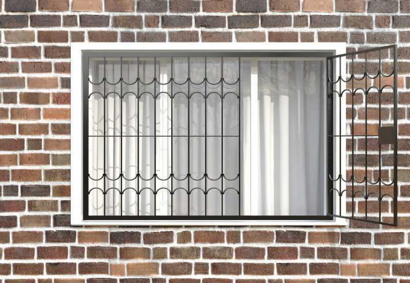 Фото 2 - Распашная решетка на окно РР-0025.