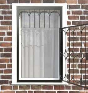 Фото 28 - Распашная решетка на окно РР-0024.