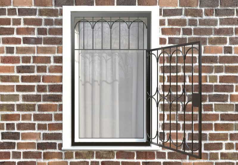 Фото 2 - Распашная решетка на окно РР-0024.