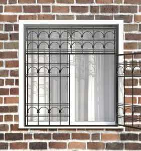 Фото 10 - Распашная решетка на окно РР-0023.