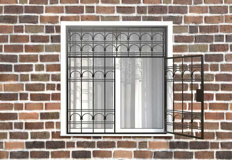 Фото 2 - Распашная решетка на окно РР-0023.