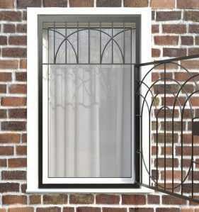 Фото 6 - Распашная решетка на окно РР-0022.