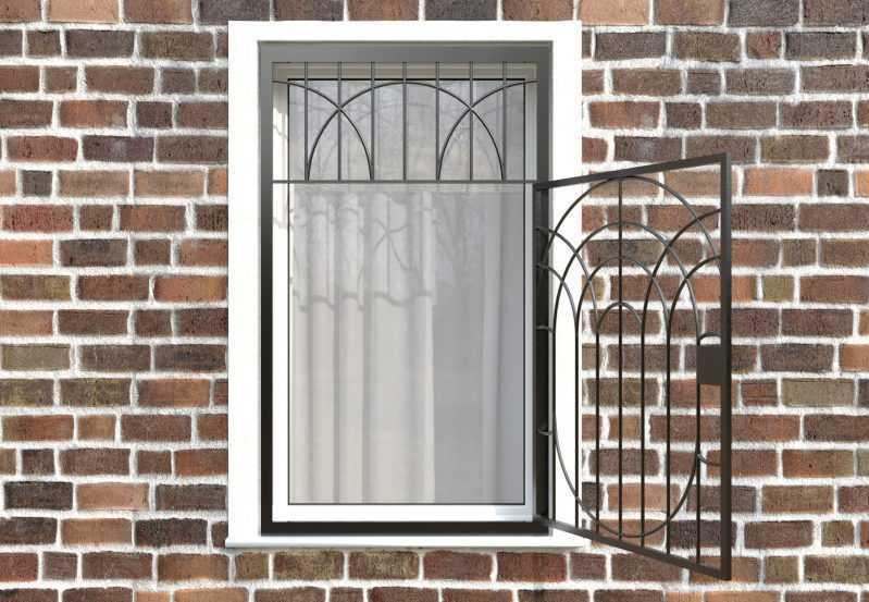 Фото 2 - Распашная решетка на окно РР-0022.