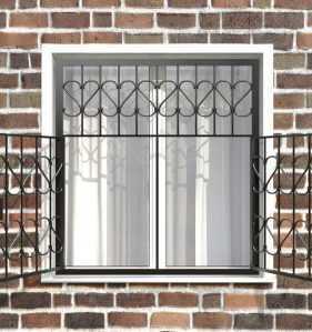 Фото 12 - Распашная решетка на окно РР-0009.