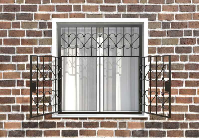 Фото 2 - Распашная решетка на окно РР-0009.