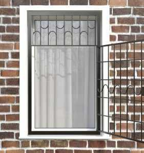 Фото 28 - Распашная решетка на окно РР-0010.