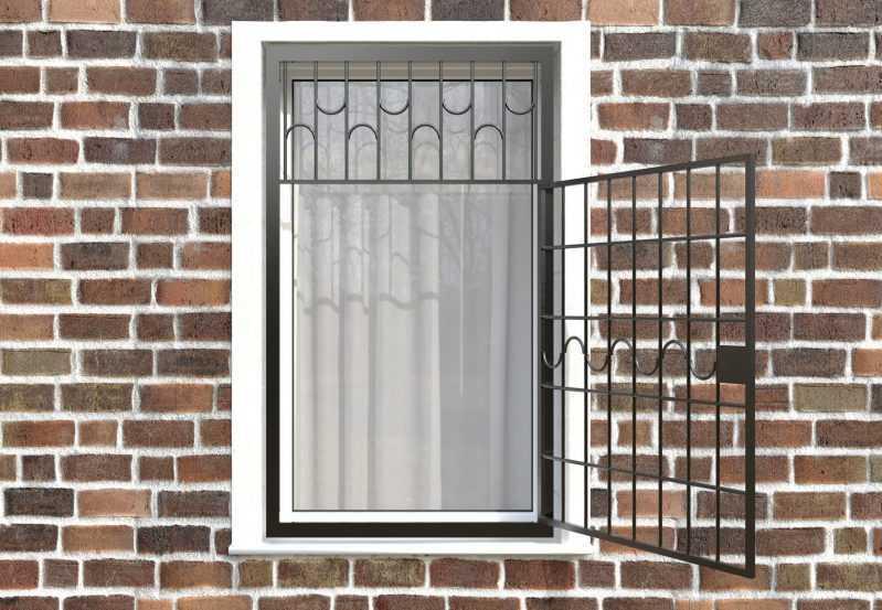 Фото 2 - Распашная решетка на окно РР-0010.