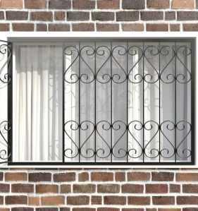 Фото 14 - Распашная решетка на окно РР-0021.