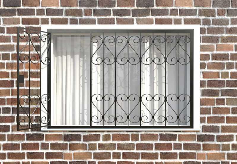 Фото 2 - Распашная решетка на окно РР-0021.