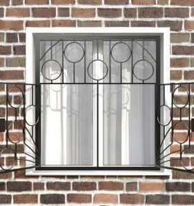 Фото 20 - Распашная решетка на окно РР-0011.