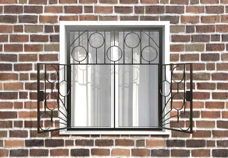 Фото 2 - Распашная решетка на окно РР-0011.